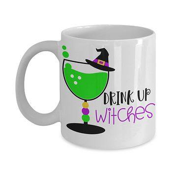 Halloween coffee mug Drink up Witches tea cup funny gift for her Gothic Party Favors