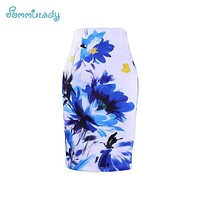 Women Colorful Printed Pencil Skirt