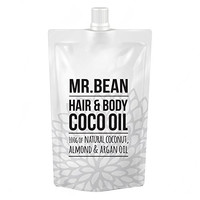 Mr. Bean Hair and Body Oil to Repair and Revitalize Dry and Damaged Hair with 100g of All Natural Coconut, Almond and Argan Oil