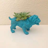 Animal Planter,  Bulldog Planter, Succulent, Dog Room Decor, Dachshund,Animal Plant Pot