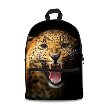 15 inch Canvas Backpack boys and girls backpack Child bag cool fashion school High capacity bag Beast face cool