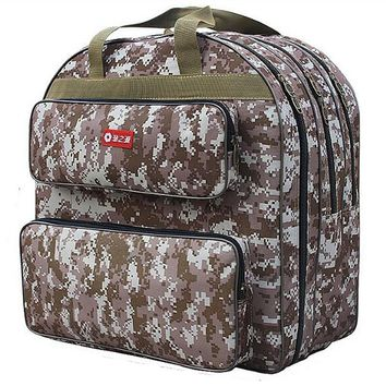 Camo 3 Layer Fishing Bag Large Capacity Multifunctional Lure Fishing Tackle Pack Outdoor backpack Oxford cloth hand Fishing bag