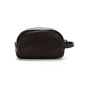 da81e07330ea Brown Braden Vegan Leather Dopp Kit