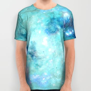 Abstract Galaxies 4 All Over Print Shirt by Barruf Designs