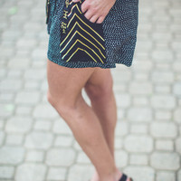 Tribal With Edge Shorts in Black