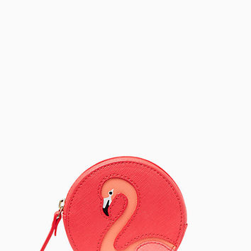 Kate Spade New York Take a Walk on the Wild Side Flamingo Coin Purse