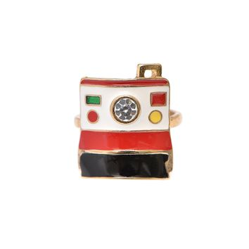 Retro Polaroid Instagram Camera Ring