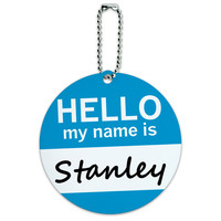 Stanley Hello My Name Is Round ID Card Luggage Tag