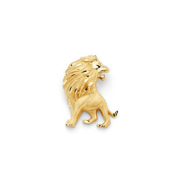 14K Yellow Gold Lion Slide Pendant, Lion Pendant, Lion Jewelry, Animal Jewelry, Gold Lion, Gold Pendant, Gold Jewelry, Lion, Lioness