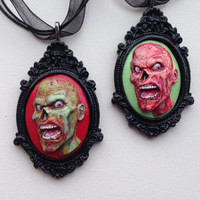 Polymer Clay Zombie Cameo