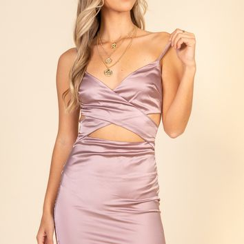 Stay With Me Tonight Dress-Champagne