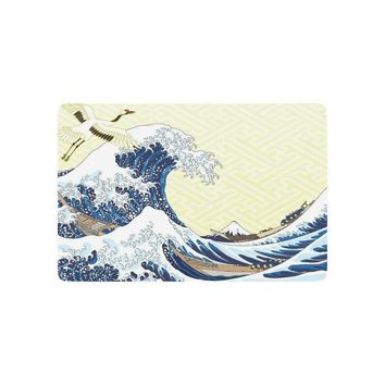 Autumn Fall welcome door mat doormat the Great Waves of Kanagawa Anti-slip  Home Decor, Japanese Wave Indoor Outdoor Entrance  Rubber Backing AT_76_7