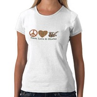 Peace, Love & Sloths Tshirt from Zazzle.com