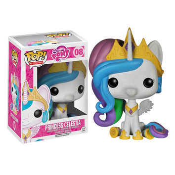Funko POP! My Little Pony - Vinyl Figure - PRINCESS CELESTIA (Pre-Order ships January): BBToyStore.com - Toys, Plush, Trading Cards, Action Figures & Games online retail store shop sale