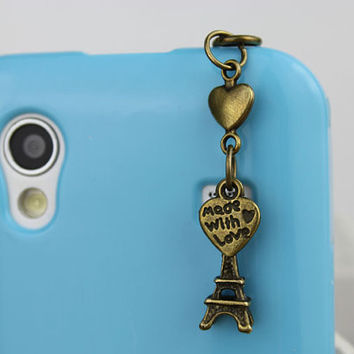 3.5mm Retro Eiffel tower Dust-proof Plug for iphone 4s,iPhone 4,iPhone 3gs,iPod Touch 4,HTC,Nokai,Samsung,Sony