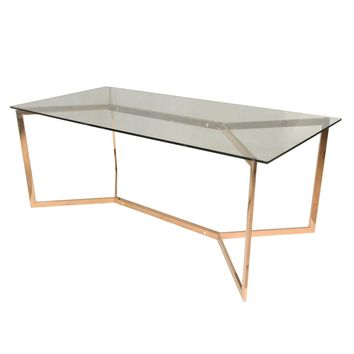 Campbell Dining Table, Rose Gold