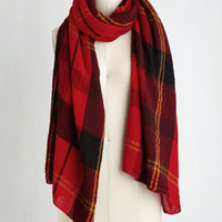 Menswear Inspired Academic Aspirations Scarf in Red by ModCloth