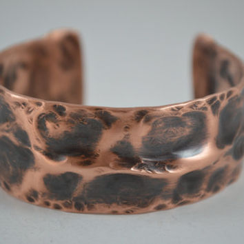 Patina Copper Cuff, Copper Cuff, Rustic Copper Bracelet, Rustic Cuff Bangle,Copper Jewelry,Handcrafted Jewelry, Unisex Jewelry,Copper Bangle