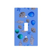 Sea shell bathroom light switch cover