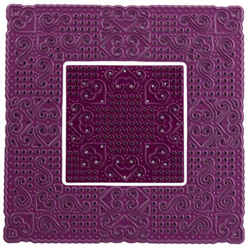"""NEW! Cheery Lynn Designs Doily Die-Lords And Commons Square, 4.125""""""""X4.125"""""""""""