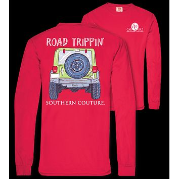 Southern Couture Road Trippin Jeep Comfort Colors Long Sleeve T-Shirt