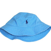 Polo Ralph Lauren Men's Chino Bucket Floppy Hat True Aqua (S/M)
