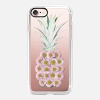 Floral Pineapple Pink iPhone 7 Case by Lisa Argyropoulos | Casetify