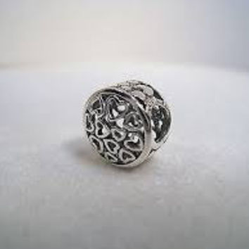 Pandora Charms Loving Sentiments Charm Bead Silver Authentic Pandora