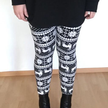 Geometrical Printed High Waist Leggings