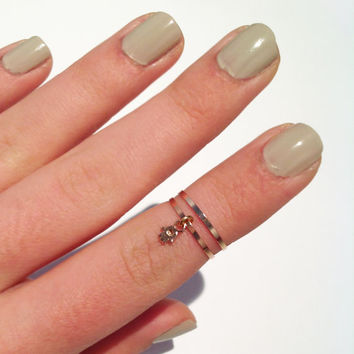 2 Above the Knuckle Rings  rose gold midi rings with a by galisfly