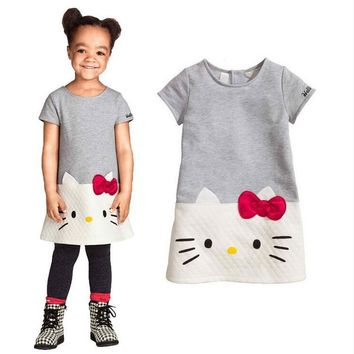 Baby Girls Dresses 2016 Brand Children Dress For Girls Clothes Hello Kitty Princess Dress Christmas Vetement Fille Kids Clothes