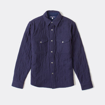 Boiled Wool Quilted Shirt Jacket