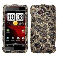Asmyna HTCADR6410HPCDM113NP Dazzling Luxurious Bling Case for HTC Droid Incredible 4G LTE ADR6410 - 1 Pack - Retail Packaging - Leopard Skin