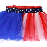 American Flag Patriotic Red, White & Blue Tutu - 4th of July!