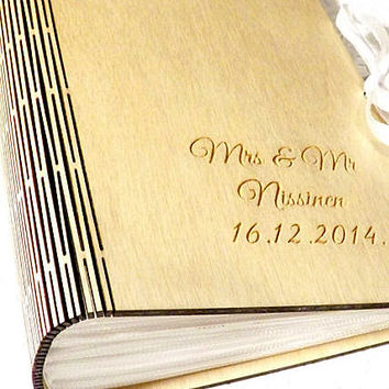 Personalized Photo Album Wedding Photo Album Picture Album Wood Album Wedding Gift Bridal Shower Gift Vacation Picture Album Rustic Wedding