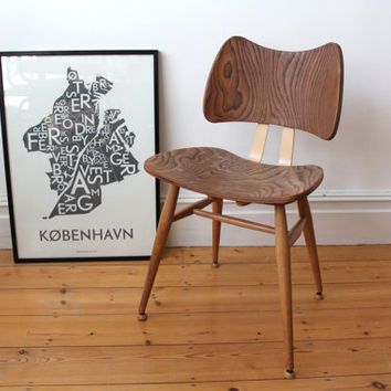 Amazing Vintage Mid Century 1950s Ercol Butterfly Chair   4 Available