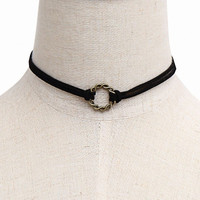 Rings Layered Choker Necklace
