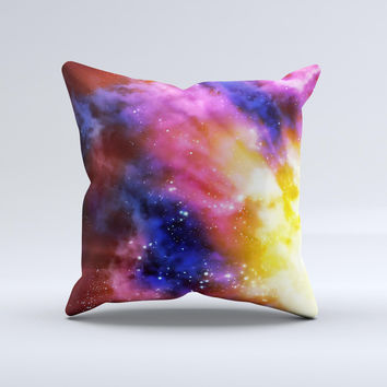 Super Nova Neon Explosion  Ink-Fuzed Decorative Throw Pillow