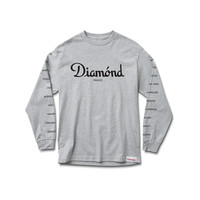 France Long Sleeve Tee in Heather