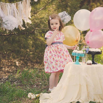 Custom Girls Dresses, Baby Girl Dresses, Boutique Dress, Toddler Dress, One of a Kind Dress, Birthday Dress, Vintage Style Dress, Handmade