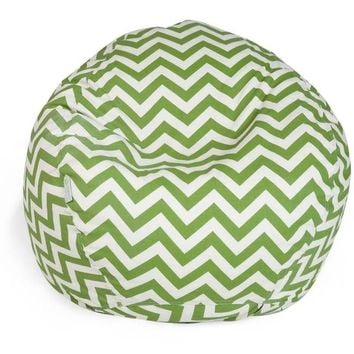 Majestic Home Goods Chevron Small Classic Bean Bag   Overstock.com Shopping - The Best Deals on Bean & Lounge Bags