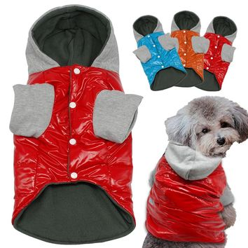 Winter Dog Clothes Waterproof Warm Pet Clothing Jacket Cheap Coat Dogs Hoodies cachorro S M L XL For Chihuahua Teddy
