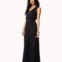 Essential Maxi Dress w/ Faux Leather Belt