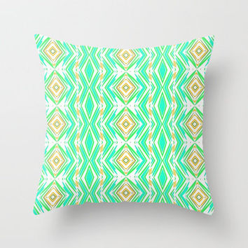 Diamonds in the rough... Throw Pillow by Lisa Argyropoulos | Society6