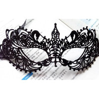 Halloween Mask Sexy Black Mask Lace Cutout Cosplay Eye Mask For Masquerade Party Anonymous Venetian Carnival Mask Masque Female
