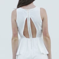 Heat Wave White Peplum Romper Mustard Cartel medium by Mustard Cartel