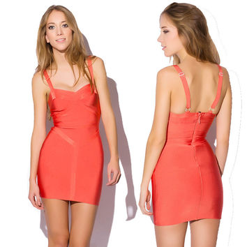 Women's Fashion Sexy Backless Bandages Dress Prom Dress [4919878852]