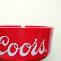 Vintage Acrylic Coors Beer Ashtray 1980s