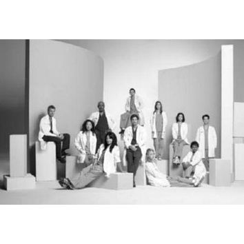 Greys Anatomy poster Metal Sign Wall Art 8in x 12in Black and White