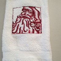 Christmas Santa bathroom hand towel